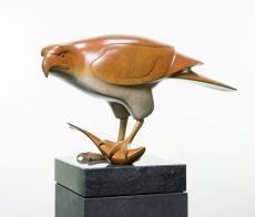 Roofvogel met vis no.3 by Evert den Hartog