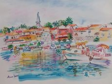 A Coastal Town in Croatia, Novigrad by Iam Anna