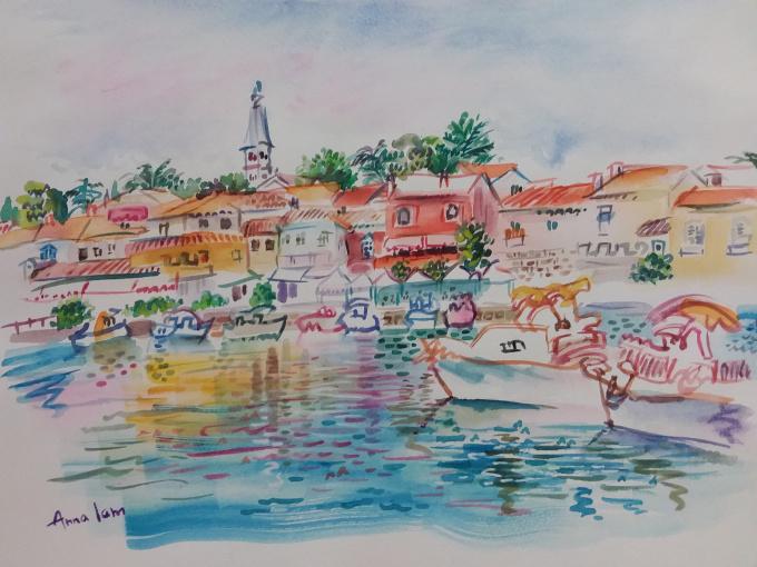 A Coastal Town in Croatia, Novigrad by Iam Anna