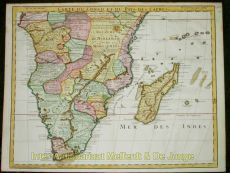 Map of South Africa and Madagascar by Isle, Guillaume de l'