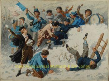 Wintergezicht  by  Frédéric Théodore Lix