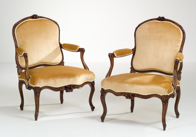 Pair of French Transitional Armchairs by Henri Amand