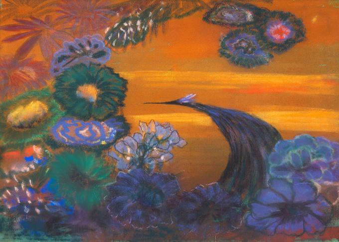 Vogel met Bloemen by Janus de Winter
