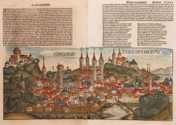 Bamberg  by  Hartmann Schedel