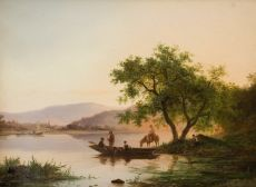 Summer landscape  by Frederik Marinus Kruseman