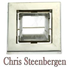 Artist Jewelry Chris Steenbergen silver brooch with rock crystal quartz by Chris Steenbergen