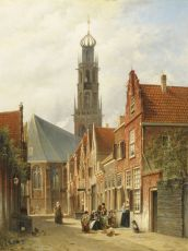 A view of Haarlem with the Bakenesser church