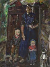 Staphorster boerin met kinderen by Jan Sluijters