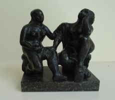 Two seated figures by Charlotte van Pallandt