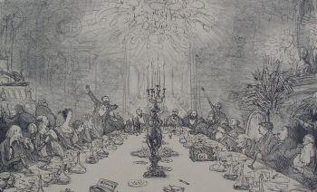 Banquet of the Dutch Drawing Society (Hollansche Teekenmaatschappij) by Marius Bauer