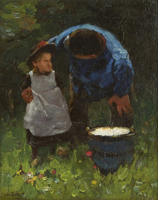 Father and child by Willem de Zwart