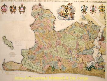 Noord Holland antieke wandkaart naar Johannes Dou by C.W.M. Klijn