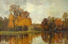 View on the river Vecht in the fall