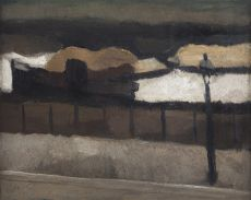 View from the painter's studio in winter by Toon Kelder