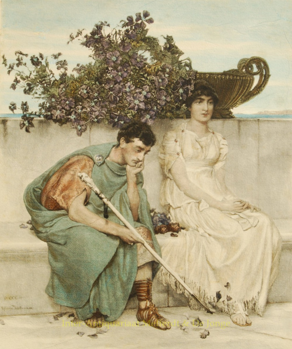 Eloquent Silence by Lawrence Alma-Tadema