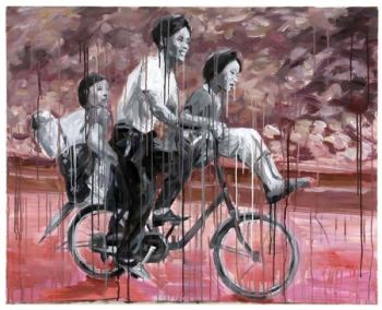 Family on Bicycle by Sheng Qi