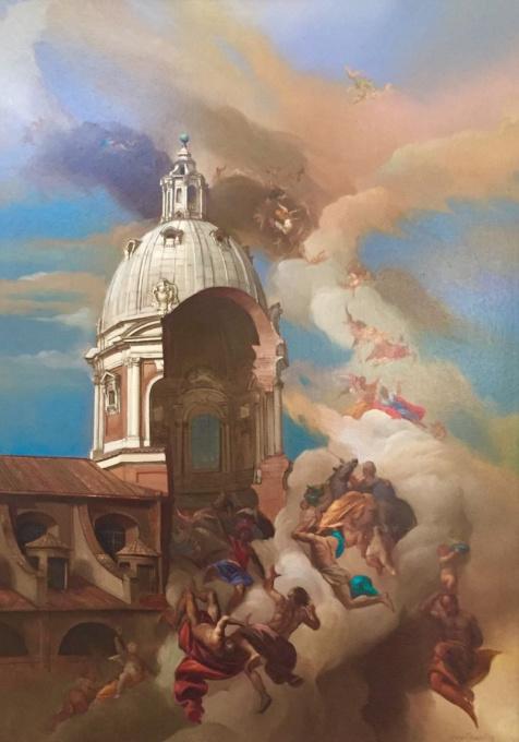 Fuga degli affreschi da Ignazio by Giovanni Tommasi Ferroni