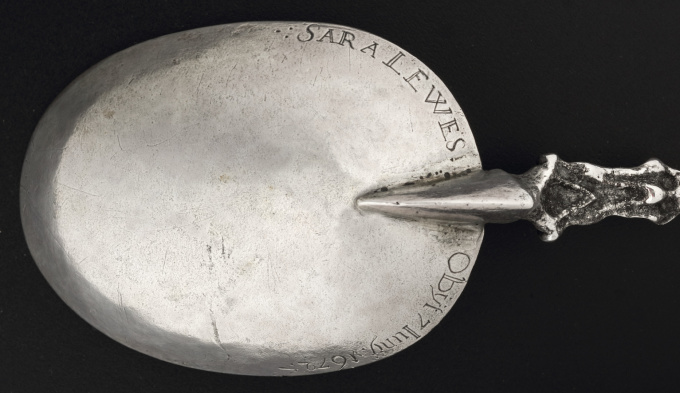 AN EXTREMELY RARE COLONIAL SILVER SPOON AND FORK (NEW YORK) by Unknown Artist