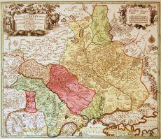 Ukraine antique map  by  Seutter