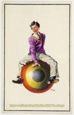 Jongeman op skippy bal (poster ontwerp) by L. Zagar