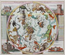 Hemelkaart sterrenbeelden  by  Johann Baptiste Homann