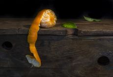 Peeling Orange by Mos Merab Samii