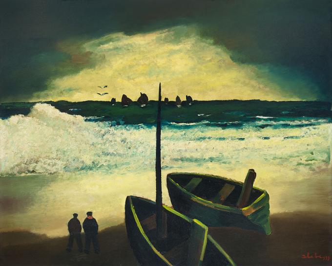 Sea sight by Ferdinand Joseph (Ferry) Slebe