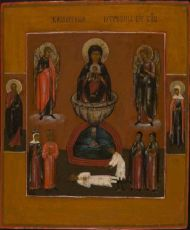Central Russian icon: The Mother of God of the Life giving Source  by Unknown Artist