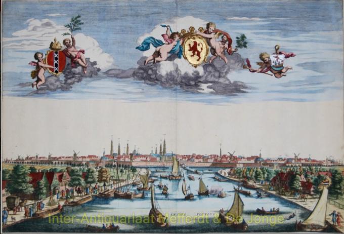 Amsterdam - View on Amstel by Ambrosius Scheevenhuysen