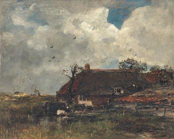 La Chaumiere, ca. 1885 by Jacob Maris