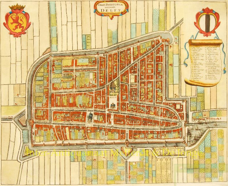 Delfi Batavorum vernacule Delft Map of Delft Gallerease