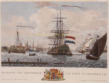 Amsterdam- harbour  by  Matthias de Sallieth after Dirk de Jong
