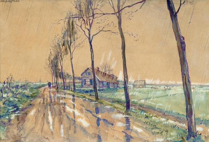 Landscape with trees by Jan Sluijters