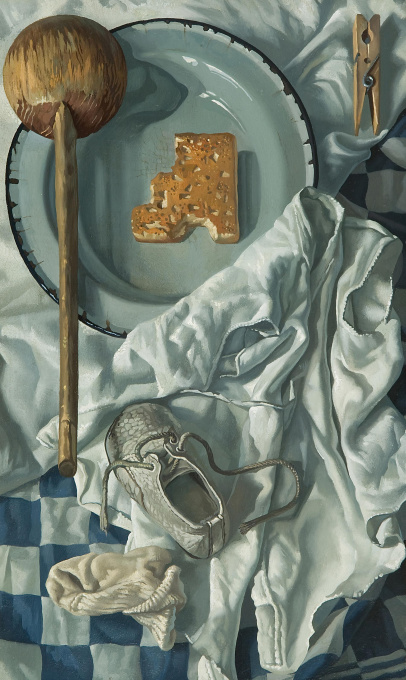 A still life with a shoe by Ab Knupker