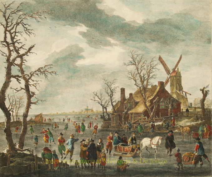 Comfortable pastime during the Dutch winters by Carl Conti