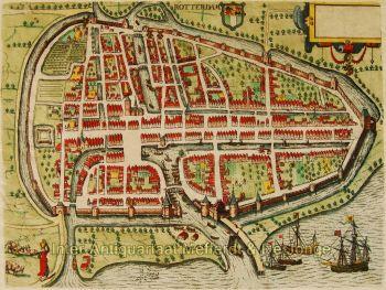 Rotterdam plattegrond  by  Guicciardini