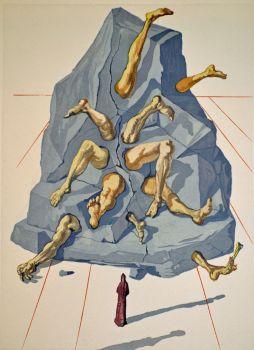 Divina commedia inferno 26 by Salvador Dali