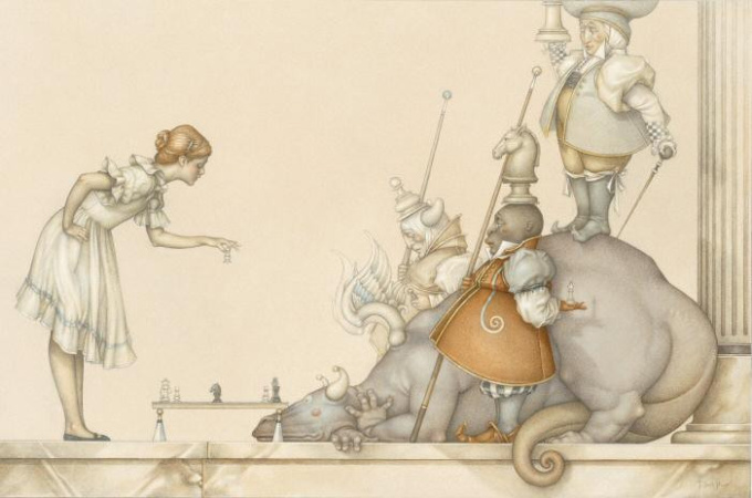 The Chess game: Child's play by Michael Parkes