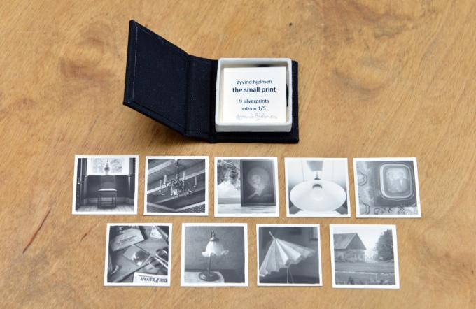 The small print, box with 9 gelatin silver prints by Øyvind Hjelmen