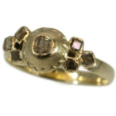 French antique diamond ring made in Tours France mid 18th Century by Unknown Artist