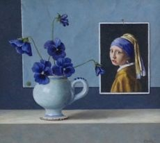 Girl with violets