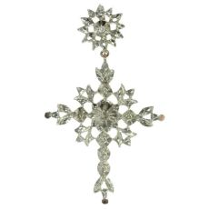 Antique Victorian Flemish cross with rose cut diamonds I by Unknown Artist