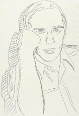 'Michael Heizer' by Andy Warhol