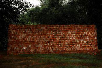 Brick Wall, by Shen Wei