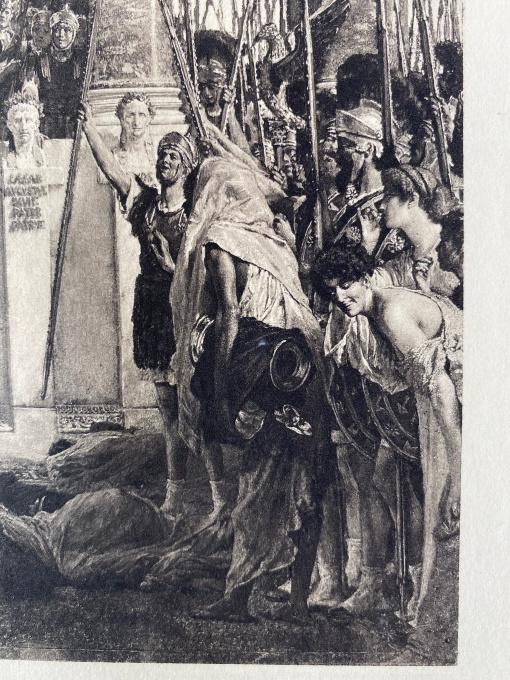 Ave Caesar! Io Saturnalia!  by Lawrence Alma-Tadema
