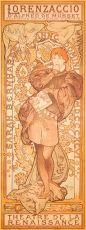 Lorenzaccio by Alphonse Mucha