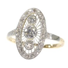 Vintage Art Deco Edwardian diamond engagement ring by Unknown Artist