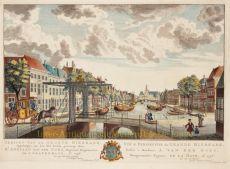 GEZICHT VAN BIERKADE TE 'S GRAVENHAGE by Scheurleer, Hendrik Florisz. (1692-1768)