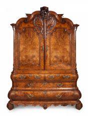 Dutch walnut Louis Quinze cabinet by Unknown Artist