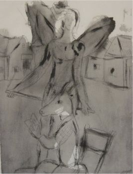 The winged acrobat by Marc Chagall